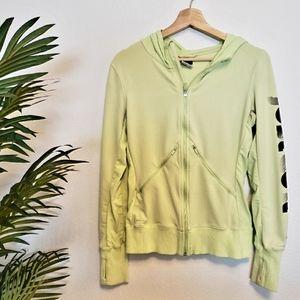 Nike | Small Neon Green Zip Up Hoodie